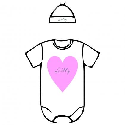 baby pack girkl heart