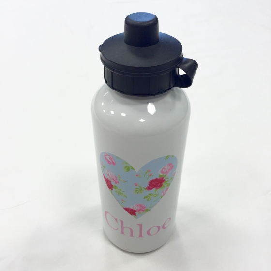 Floral Heart Water Bottle | Jual Personalised Gifts
