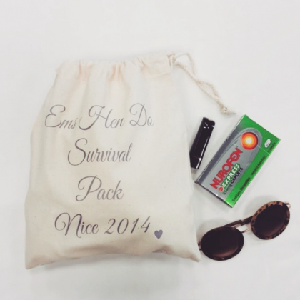 Bags : Wedding - Hen Do Suvival Pack