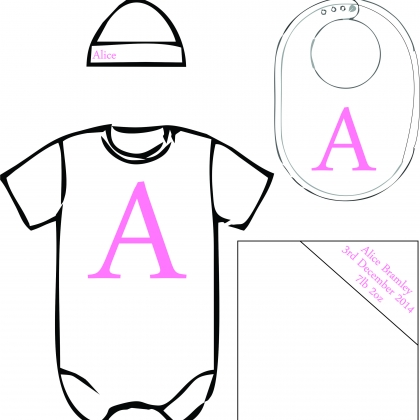 baby pack - Name & Letter